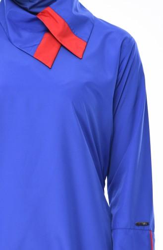 Saks-Blau Hijab Badeanzug 365-01