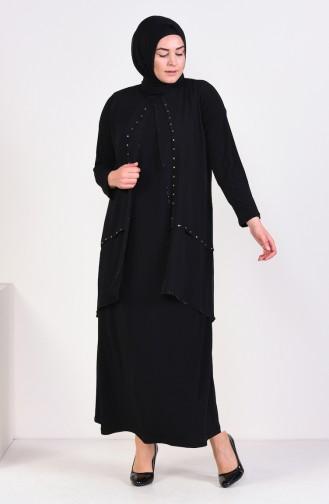 Habillé Hijab Noir 1013-02