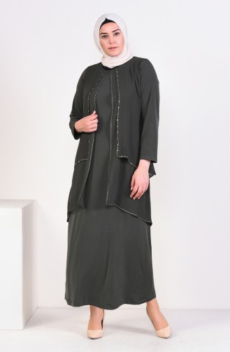 Habillé Hijab Khaki 1013-03