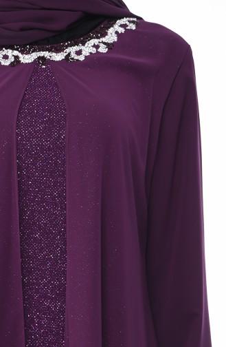 Lila Hijab-Abendkleider 1011-02