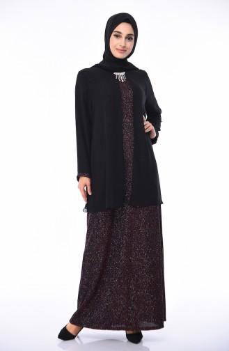 Black Islamic Clothing Evening Dress 1052A-02