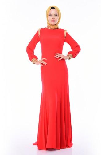 Pailletten Abendkleid  4186-01 Granatapfelblume 4186-01