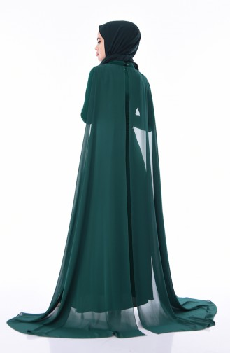 Abendkleid mit Coupüre 4493-01 Smaragdgrün 4493-01