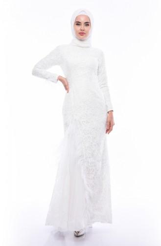 eda36f162f039 Beyaz Elbise Modelleri ve Fiyatları - Tesettür Giyim | SefaMerve