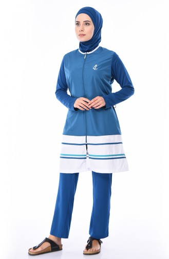 Hijab Swimsuit 1277-03 Petrol 1277-03