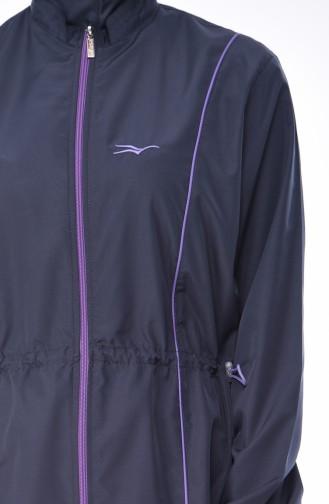 بدلة سباحة للمُحجابات 2011-02 لون اسود مائل للرمادي 2011-02