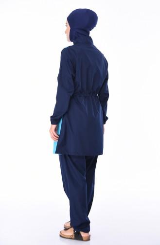 Maillot de Bain Hijab 6069-03 Bleu Marine 6069-03
