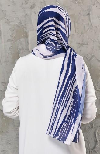 شال أزرق كحلي 13018-09