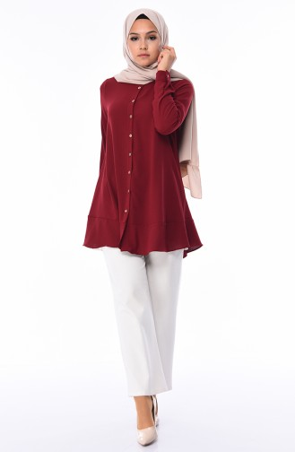 Claret red Tunic 1338-04