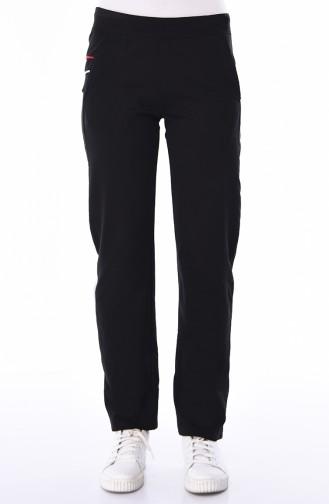 Pantalon Sport avec Poches 94187-01 Noir 94187-01