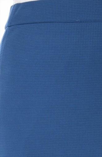 Jupe élastique Grande Taille 3006-13 İndigo 3006-13