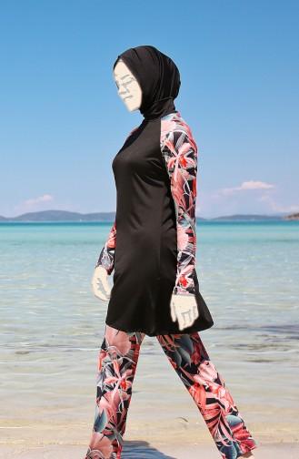 Maillot de Bain Hijab 1945-01 Noir 1945-01