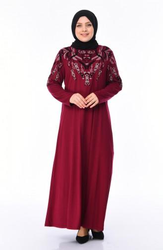 فستان فوشي داكن 4496-01