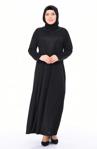Black İslamitische Jurk 4563A-05