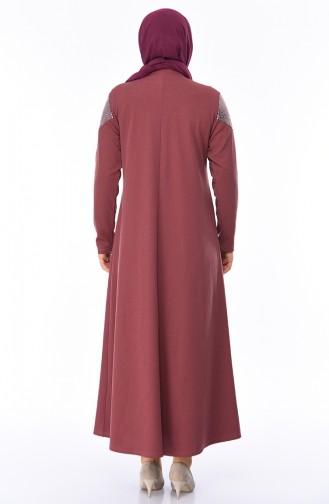 Dusty Rose İslamitische Jurk 4565-01