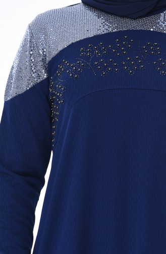 فستان أزرق كحلي 4565-04