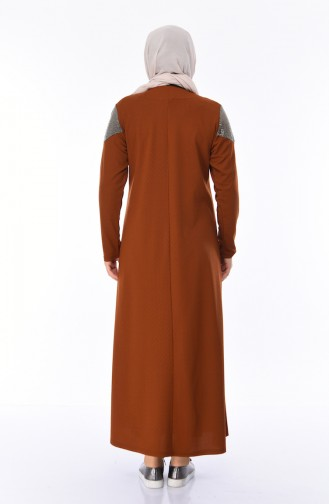 Robe Perlées Grande Taille 4565-08 Tabac 4565-08
