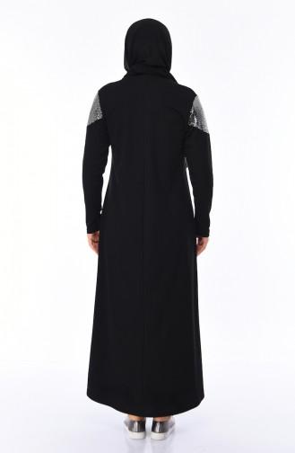 Black İslamitische Jurk 4565-09