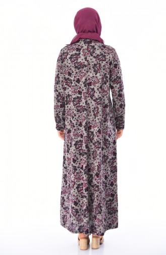 Weinrot Hijap Kleider 4847A-01
