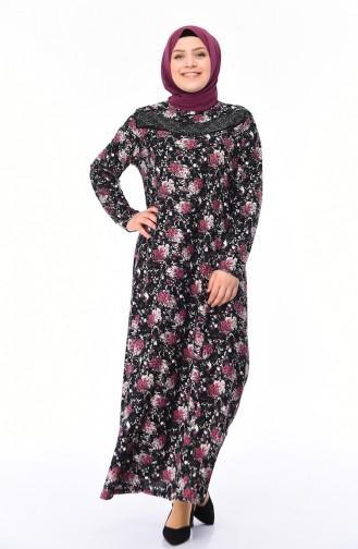 Black İslamitische Jurk 4859B-04