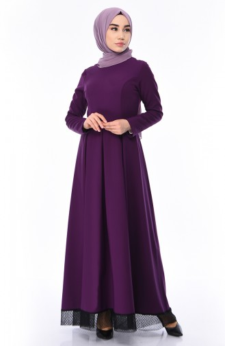 Kleid mit Band 8178-07 Lila 8178-07