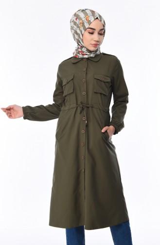 Khaki Trench Coats Models 5476-02