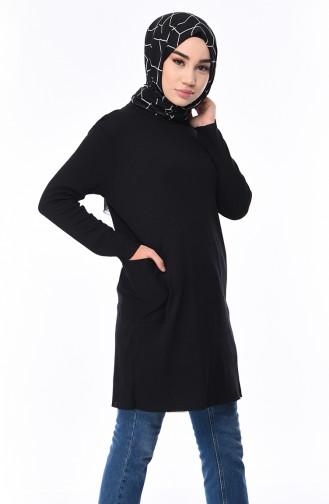 a6145619bcdf4 Siyah Tunik Modelleri ve Fiyatları-Tesettür Giyim-Sefamerve