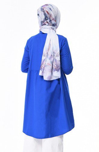 Tunique Taille Froncée 5000-18 Bleu Roi 5000-18