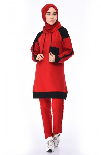 Red Sweatsuit 19024-06