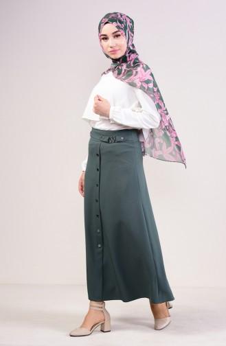 تنورة أخضر زمردي 0411-08