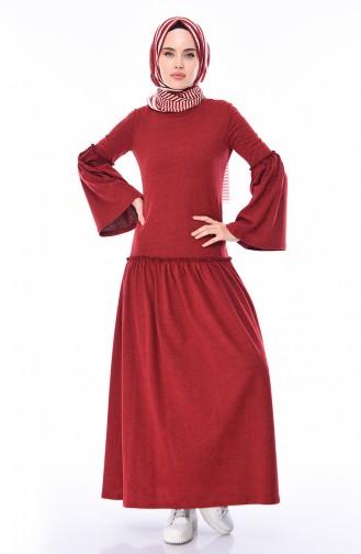 Claret red Dress 5016-02