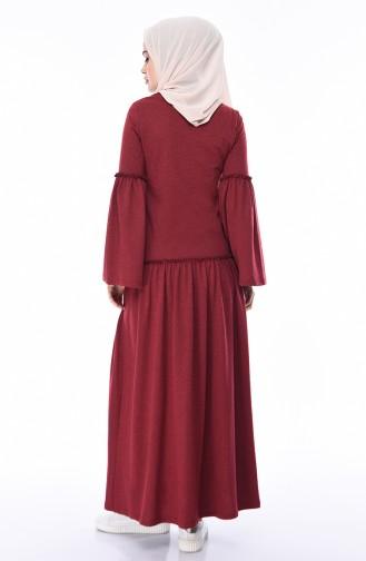 Dark Claret Red Dress 5016-08