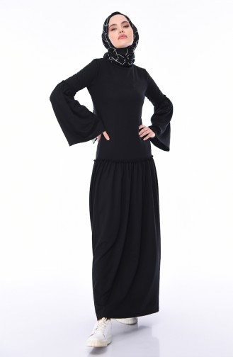 Black İslamitische Jurk 5016-11