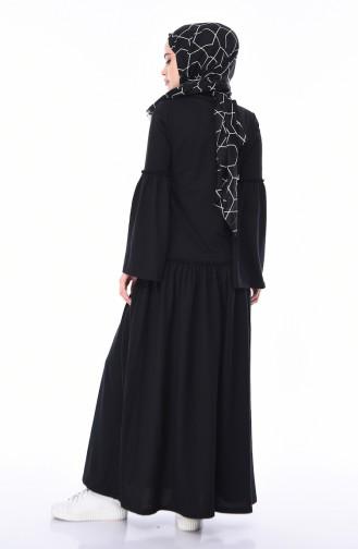 Robe Hijab Noir 5016-11