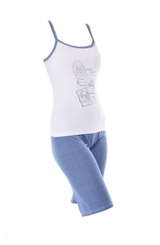 Ensemble Pyjama Pour Femme 3112 Blanc 3112