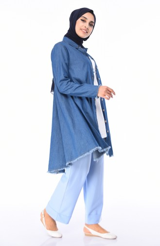 Beli Lastikli Pantolon 5213-13 Bebe Mavi