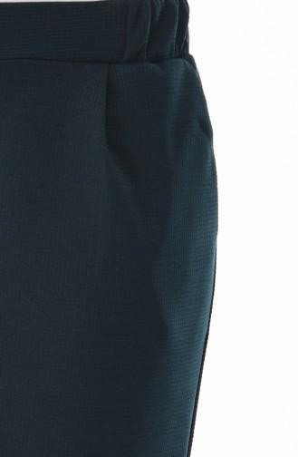 Double Paça Pantolon 1024-10 Zümrüt Yeşili