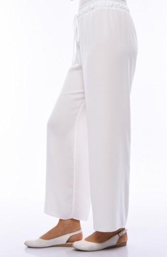 Bol Paça Pantolon 2095-06 Beyaz
