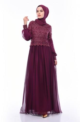 Damson Islamic Clothing Evening Dress 8959-03