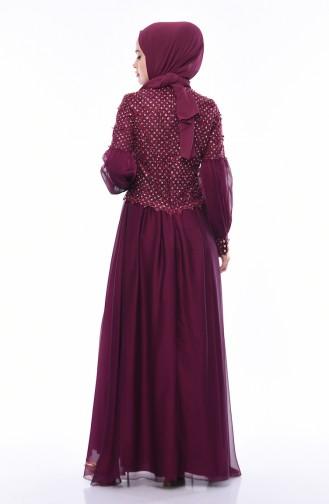Robe de Soirée a Dentelle 8959-03 Plum 8959-03