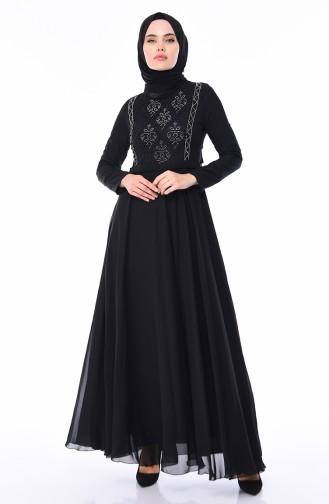 Black İslamitische Avondjurk 9346-02