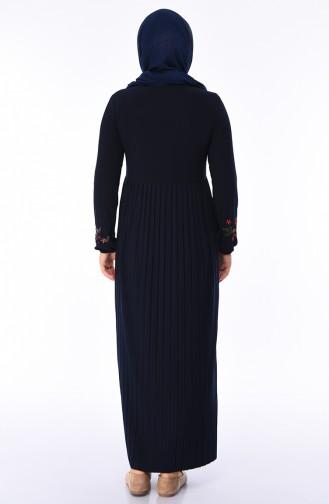 Navy Blue Dress 6190-04