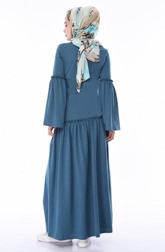 Oil Blue Dress 5016-04