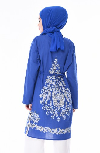 Tunique Imprimée 5050-02 Bleu Roi 5050-02