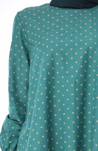 Tunique Coton 1213-03 Vert emeraude 1213-03