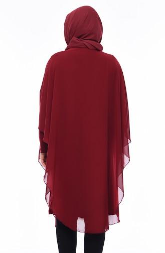 Claret red Tunic 4003-01