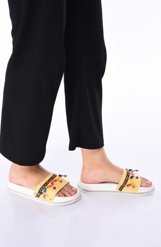 Yellow Summer slippers 5210K-05