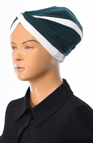 Smaragdgrün Bonnet 0036-03