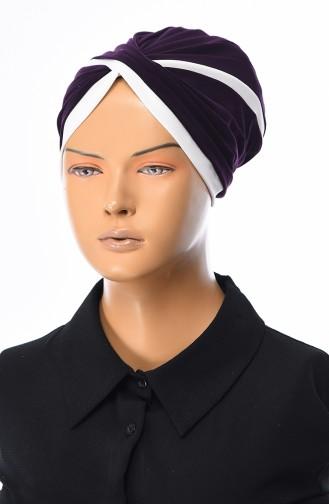 Bonnet Croisé 0036-19 Pourpre Foncé 0036-19