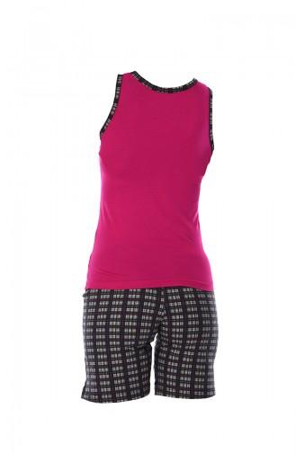 Ensemble Pyjama Short Pour Femme 708 Fushia 708